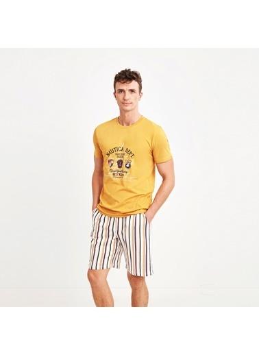 Nautica M129SORTTK.HRD Nautıca Erkek Sarı Pijama Takımı Sarı
